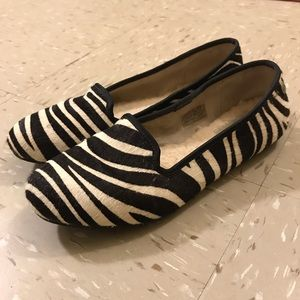 UGGS zebra print loafer Flats